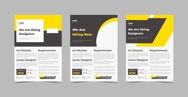estamos contratando un paquete de plantillas de diseño de folletos vector