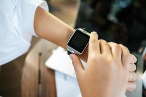 Smart watch on the wrist photo