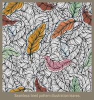 hojas de ilustración de patrón rayado transparente. vector