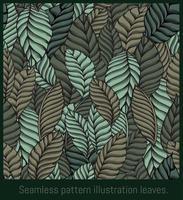 follajes de ilustración de patrones sin fisuras. vector