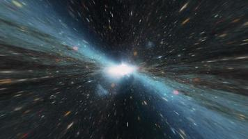 Space travel light in glow blue orange light wormhole tunnel video