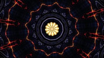 animación de patrones hipnóticos mandalas visuales rotación espiritual video