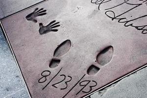 Star's hand and footprint at the Chinese Theater in Hollywood photo
