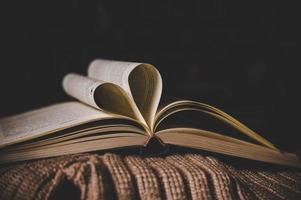 open book in the classroom photo