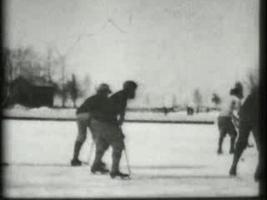 Hockey Match On Ice 1898 video
