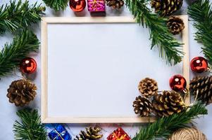 Mock up of Flipchart on the Cement floor with Christmas photo
