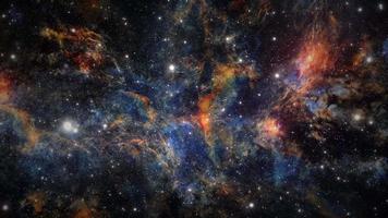 animação de voar pelo espaço sideral em direção à galáxia da Via Láctea video