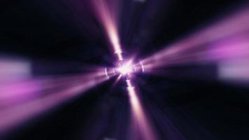 Abstract VJ Loop center flare light with purple light effect tunnel video