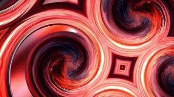 Resumen resplandor color pastel representación en espiral hipnótico video