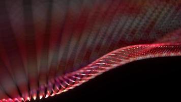 Seamless loop of mesh dot digital wave particles flow video