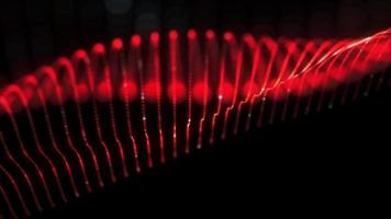 abstrakt sömlös loop av mesh glödande röd prick digital våg video