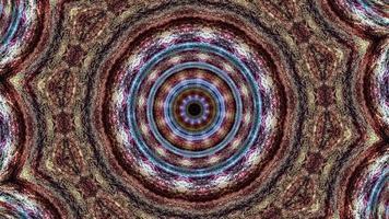 animation de boucle de motif de séquence de kaléidoscope vif mandala spirituel video