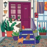 Coloring Picture Cats vector