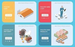 Poultry Farm Design Concept vector