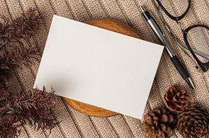 Postal y papelería en tiempo de celebración. foto