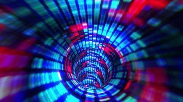movimento delle linee di volo tremolanti ed effetto di luce nel tunnel video
