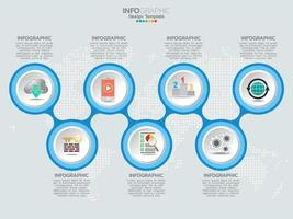 Infographics timeline design template with icons and text label. vector