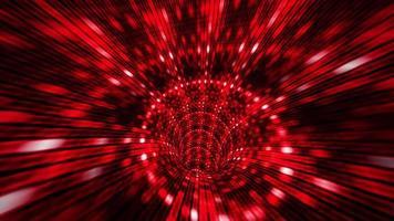 Flight in futuristic sci-fi virtual reality tunnel seamless loop. video