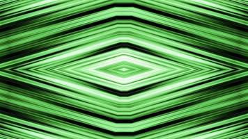 matriz de espelho verde-limão brilhante forma linhas de ilusão de caos, video
