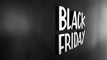 BLACK FRIDAY 3D chrome text word flying animation video