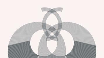 3D render grey light abstract loop background, grey spectrum video