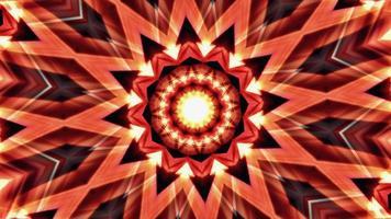 Red and Yellow Kaleidoscope mandala seamless background. video