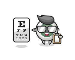 Illustration of eyeball mascot as an ophthalmologist vector