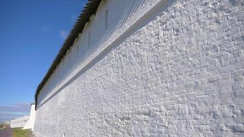 White stone wall Kazan Kremlin Russia photo