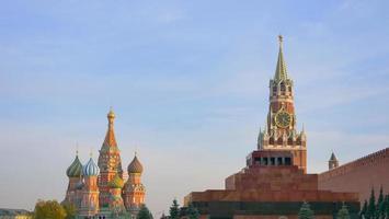 S t. Catedral de Basilio en la Plaza Roja del Kremlin de Moscú, Rusia foto