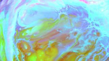 Abstract Colorful Color Ink Liquid Pshychedelic Paint Movement video