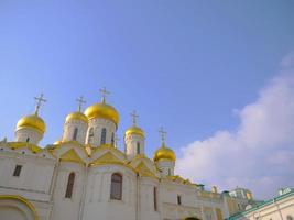 iglesia de arquitectura en el kremlin, moscú, rusia foto