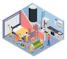 Renovation Repair Works Composition vector