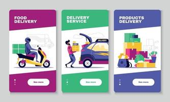 Delivery Vertical banners vector