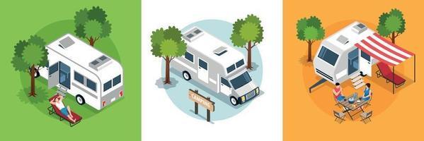 Family Trip Design Concept vector
