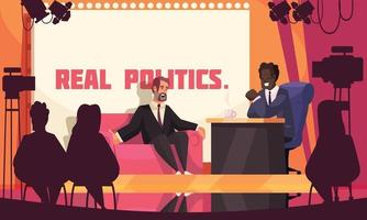 Real Politics Colored Poster vector