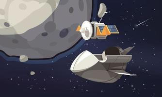 fondo de dibujos animados de exploración del universo vector