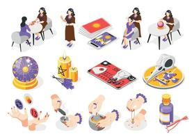 Magical Services Isometric Icons vector