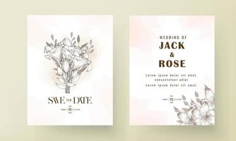 Save the date wedding invitation card design vector