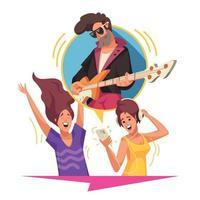Online Music Content vector