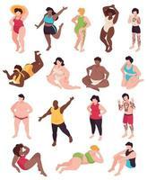 Body Positive Icons Set vector