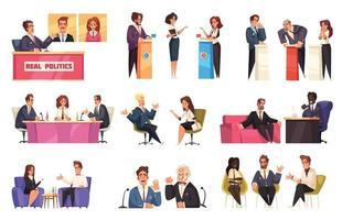 Political Talk Show Set vector