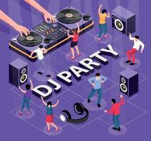 DJ Party Flowchart Composition vector