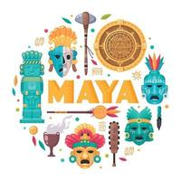 Maya Civilization Concept vector