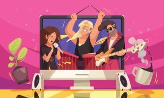 Online Music Rock Concert vector