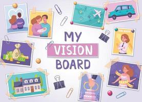 Vision Board Poster vector