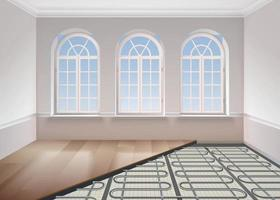 Floor Heating System Composition vector