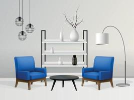 Designer Interior Realistic Composition vector