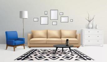 Modern Interior Room Composition vector