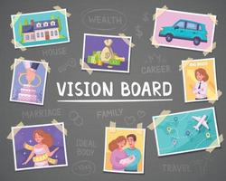 Vision Board Background vector