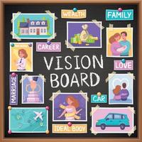 Vision Board Planner vector